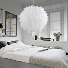 Easy Fit Ceiling Light Lampshade Feather Pendant shade Bedroom Nordic Style 30CM