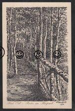 330R AK  Ansichtskarte Bad Orb  Künstlerkarte Gemälde  W. Sondeck 1924  Kurpark