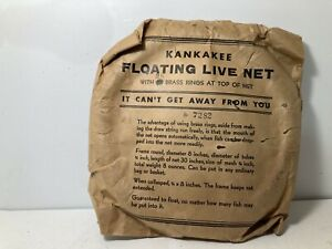 NEW SEALED Vintage Fishing Live Bait Net  Cage Collapsible Fish