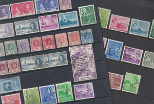 Mauritius 1938-53 Used Mint MH Part Sets Definitives King George VI Victory UPU