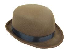 BROWN FELT BOWLER HAT - STAGE - WESTERN - HISTORICAL