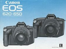 Canon Eos 620 & 650 Slr 35mm Camera Owners Instruction Manual-Canon-from 1990s
