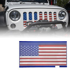 USA Stars Flag Front Mesh Steel Grille Insert with 2007-2017 Jeep JK Wrangler