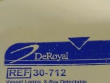 DEROYAL 30-712 VESSEL LOOPS XRAY DETECTABLE SILICONE LAB VET MD TRAINING NURSE