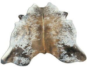 Speckled Tricolor Cowhide Rug Size: 7.5' X 6.3' Brown/White Cowhide Rug O-991