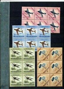 HUNGARY Aviation Parachutes Blocks MNH (48 Stamps) ZA 923