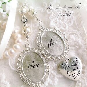 Stunning Double Bridal Bouquet Photo Frame Memory Charm,bride,Wedding,Gift