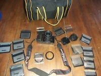 Nikon F50 +  lenses + bag. Nikon + filters+accessories see pics