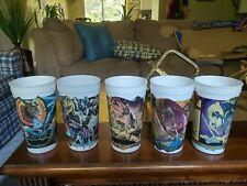 Jurassic Park McDonald's 5 Promo Plastic Cups T-rex Topper 1994