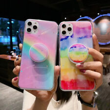 Rainbow Phone Case Cover For iPhone 6s 7 8 Plus XR X XS 11 Pro MAX Socket Holder