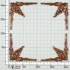 Ox Copper Plated Brass 1222co4 4 Art Nouveau Corner Stampings