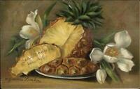Gammius Boecker Fruit Still Life Art c1910 Postcard PINEAPPLE