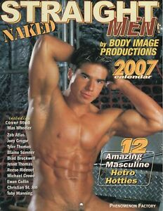 GAY: Vintage sexy male 2007 NAKED STRAIGHT MEN CALENDAR use again in 2029!