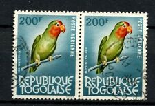 Togo 1964 SG#393, 200f Bird Used Pair #A58488
