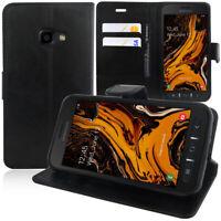 Etui Coque Housse Portefeuille Rabat Cuir PU Samsung Galaxy Xcover 4S SM-G398F