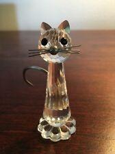 Vintage SWAROVSKI CRYSTAL Medium  CAT FIGURINE .