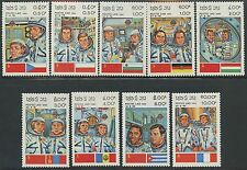 LAOS N°466/474** Espace, cosmonautes, 1983 intercosmos Space Cooperation set MNH
