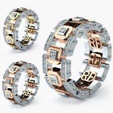 Ring Engagement Wedding Jewelry Size 6-10 Fashion Men Women Rings Crystal Band