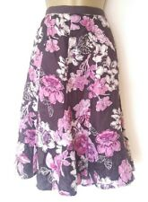 LOVELY HOBBS SILK SKIRT SZ 10 IN VGC! PINK/FLORAL/FULL