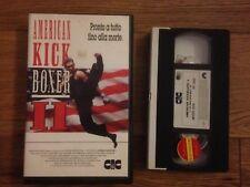 AMERICAN KICK BOXER II VHS RARA KICKBOXING MARTIAL ARTS