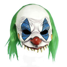 Evil Clown Mask Adult PVC Scary Grinning Halloween Costume Accessory