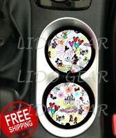 Disney PARKS SKETCH Car Coasters Disney Inspired Car Coaster Cup Holders
