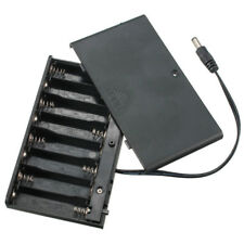 12V 8 AA 2A Cell Battery Clip Holder Box Case with Cover ON/OFF Switch Wire Lead