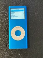 Apple iPod Nano 2nd Generation (4 GB) Blue MP3 Music Player with cord tested