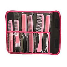 Combank 6 Piece Carbon Comb Set - Pink