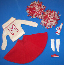 Vintage Barbie #876 #0876 CHEERLEADER Uniform Pompoms Megaphone Socks 1964-65
