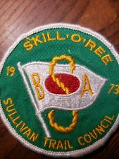 "SKILL,O,REE 1973 Sullivan Trail Council 3"" Patch BSA AF"