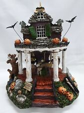 "Charming Tails Rare Signed ""Scare-ousel"" Haunted House"" Musical Carousel"