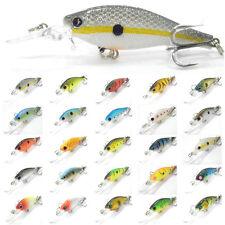 5PCS Fishing Fish Crank Minnow lure Lures Crankbaits artificial bait 8.5cm/7.5g