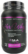 NLA For HER WHEY Lean Muscle Protein (Vanilla Cupcake 2 lbs) Gluten Free