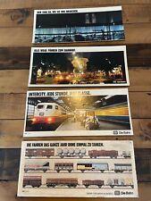 4 Werbeschilder -Abteilwerbung- Deutsche Bahn Pappe und Plastik