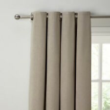 John Lewis HATCH CHENILLE Eyelet Lined CURTAINS Putty 228 x 182 cm NEW