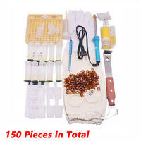 150Pcs Bee Queen Rearing Cupkit Complete Box System Beekeeping Cage Cell Cup Kit