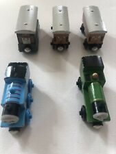 Thomas the Train Wooden Railway Lot Of 5 Cars Engines