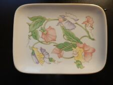 SMALL FLORAL FINE CHINA EXCLUSIVELY FOR BEN RICKERT INC JAPAN TRAY!   ZZ455DCX