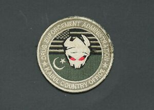 DEA Afghanistan Kabul Country Office patch Drug Enforcement Admin. Afghan made