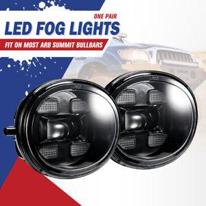 Pair LED Fog & DRL Lights Kit Upgrade For ARB Summit Bull Bar
