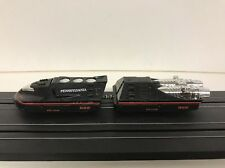 NEW OLD STOCK   TYCO 2 PCS.  BLACK TURBO TRAIN W/ 440X2 CHASSIS  SLOT CAR