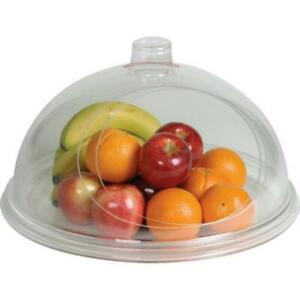 """Cal-Mil 15"""" Turn N Serve Gourmet Cover - Acrylic with white Tray New"""