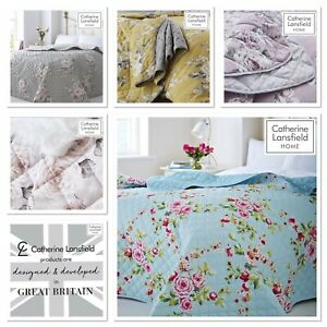 Catherine Lansfield  Canterbury Quilted Bedspread Collection 5 Colour Option's