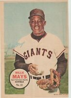 1967 Topps Posters #12 Willie Mays poster, San Francisco Giants