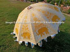 Indian Handmade Embroidery Patio Outdoor Parasol Decor Large Garden Umbrella 72""