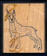 DOBERMAN PUPPY DOG Breed Pet ART IMPRESSIONS G-974 1996 wood RUBBER STAMP