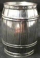 Blackington Sterling Silver Childs Piggy Bank Barrel Form