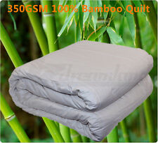 King 350gsm All Season 100 Bamboo Quilt Doona Cotton Cover Machinewashable
