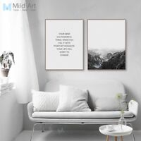 Mountain Landscape Life Quote Poster Print Nordic Home Decor Art Canvas Painting